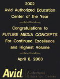 FMC is the Avid Authorized Education Center of the Year