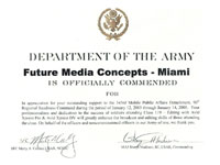 FMC is Officially Commended by the Department of the Army